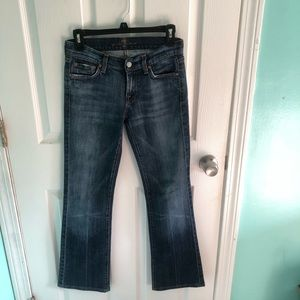 7 for all mankind bootcut jeans size 25 euc!